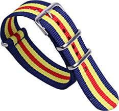 20mm Multicolor Elegant Fashion Nylon NATO Style Watch Straps Bands Replacements for Men Women