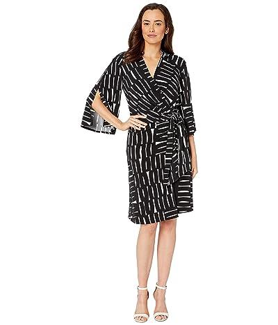 Kenneth Cole New York Kimono Dress (Retro Squares Vanilla Black) Women