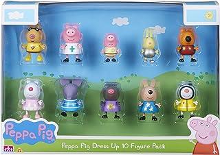 Peppa Pig 06668 Dress-Up 10-Figure Pack, Multicoloured, 4 X 5 X 5.5 cm