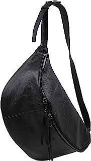 SH Leder echt Leder Damen unisex Brusttasche für Festival Reise gross Hüfttasche Crossbody Bag Frauen Ledertasche 49x28cm Daniela G768