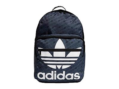 adidas Originals Originals Trefoil Pocket Backpack (Onix Monogram/Black) Backpack Bags
