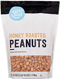 Amazon Brand - Happy Belly Honey Roasted Peanuts, 42 ounce