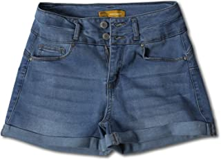 Awesome21 Women's Casual Push Up Roll-up Cuff Denim Shorts