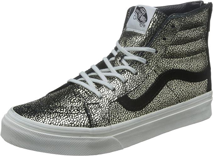 Vans SK8 HI Slim Zip or Dots or blanc femmes' chaussures 5.5