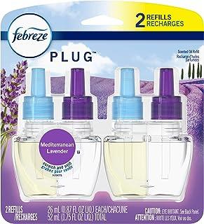 Febreze Plug Odor-Eliminating Air Freshener Scented Oil Refill, Mediterraenan Lavender, 2 count