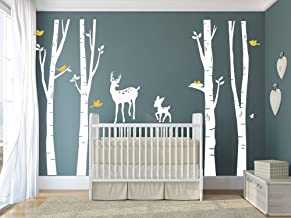 tree and deer wall decal