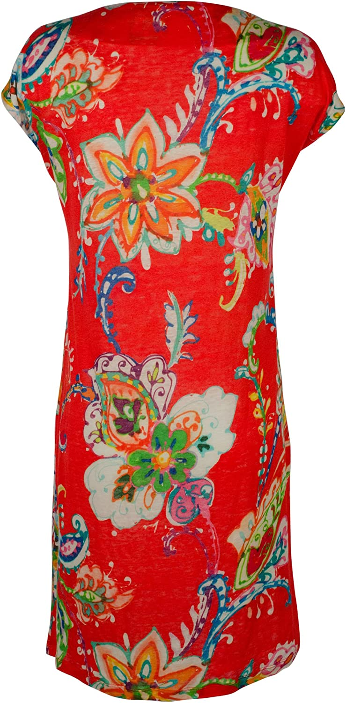 Lauren Ralph Lauren Womens Linen FloralPrint Casual Dress