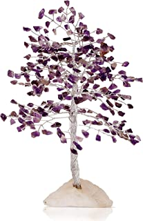 FASHIONZAADI Amethyst Bonsai Crystals Tree Rock Quartz Base Wealth & Luck Feng Shui Good Luck Figurine Chakra Reiki Healin...