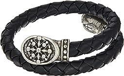 Alex and Ani Compass Braided Leather Wrap Bracelet