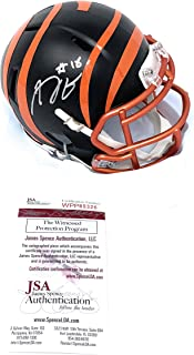 AJ Green Cincinnati Bengals Signed Autograph BLAZE Speed Mini Helmet JSA Witnessed Certified
