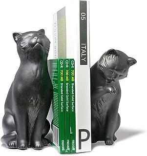 Danya B. NY8022B Feline Shelf Decor - Decorative Cat Bookend Set for Cat Lovers – Black