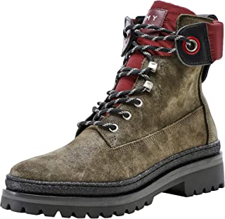 TOMMY HILFIGER Women's Sporty Outdoor Lace Up Suede Boots Grey