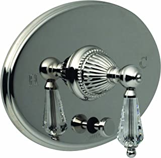 Santec 1135LC36-TM Monarch Bright Victorian Copper Pressure Balance Tub/Shower - Trim Only W/ Lc Swarovski Crystal Handle (In