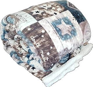 130X150CM Liamjh Plaid Pallacanestro E Fuoco Bedding Sherpa Matrimoniale Coperta in Pile di Flanella Divano Microfibra Morbida Reversibile Traspirante Leggero Coperte da Letto-S