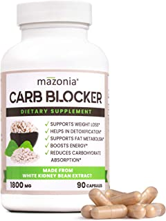 White Kidney Bean Extract Carb Blocker Supplements | Weight Loss Formula | Fat Burner | Diet Pills | Metabolism and Energy...