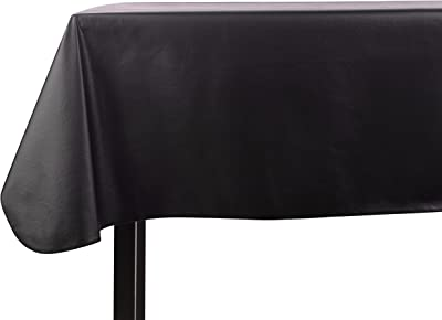 Amazon Com Yourtablecloth Heavy Duty Vinyl Rectangle Or Square Tablecloth 6 Gauge Heavy Duty Tablecloth Flannel Backed Wipeable Tablecloth With Vivid Colors Many Sizes 52 X 70 Black Kitchen Dining