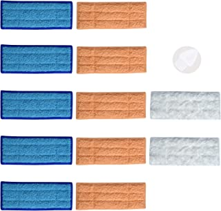 12Pcs (5 Wet+5 Damp+2 Dry) Replacement Mopping Pads for iRobot Braava Jet 240 241 Robotic