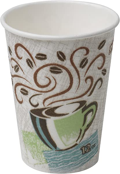 Dixie PerfecTouch 12 Oz Insulated Paper Hot Coffee Cup By GP PRO Georgia Pacific Coffee Haze 5342CD 1 000 Count 50 Cups Per Sleeve 20 Sleeves Per Case