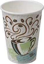 Dixie PerfecTouch 12 oz. Insulated Paper Hot Coffee Cup by GP PRO (Georgia-Pacific), Coffee Haze, 5342CD, 1,000 Count (50 Cups Per Sleeve, 20 Sleeves Per Case)