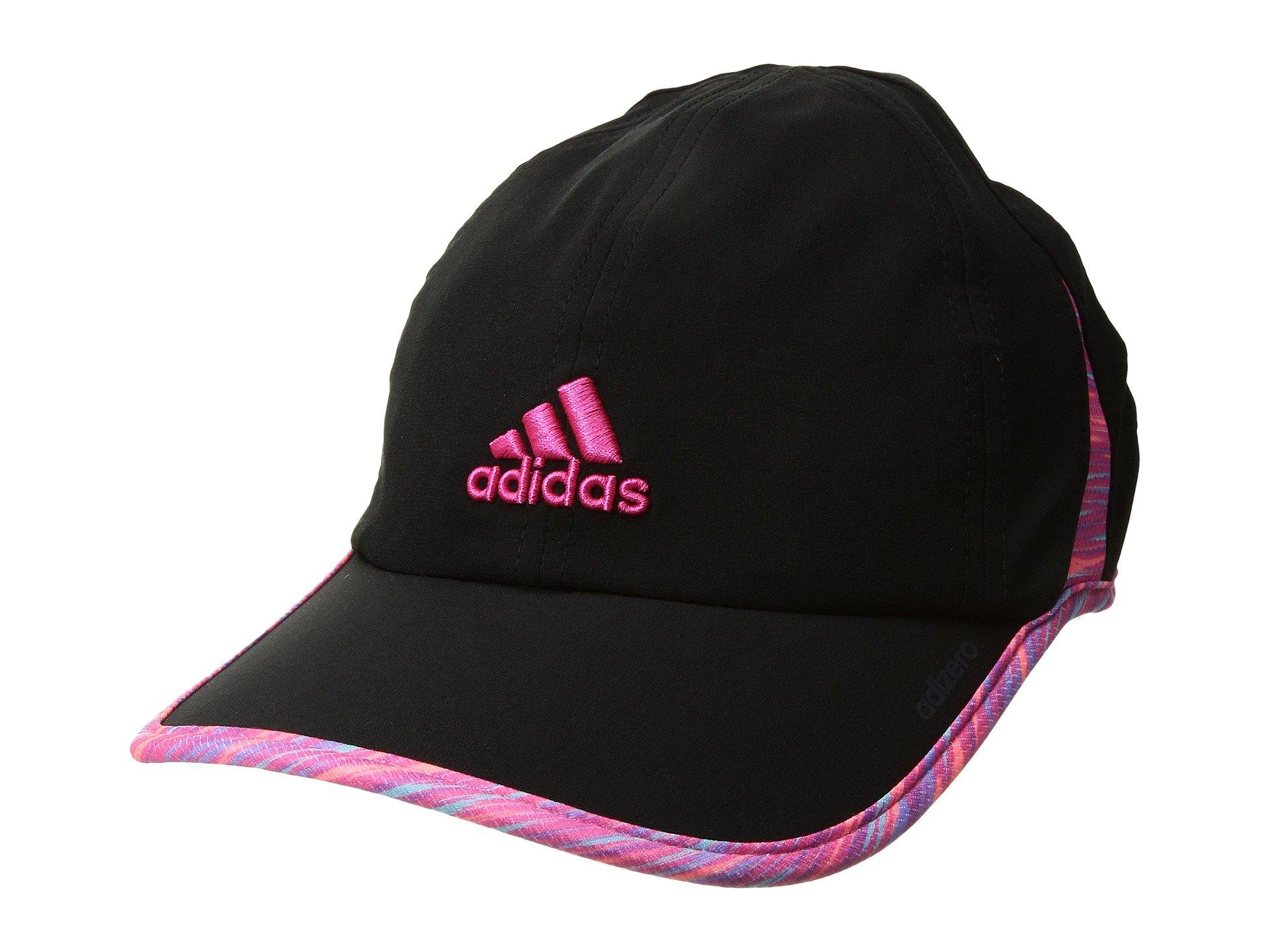 804563697da Adidas Originals Adizero Ii Cap In Black Twister Shock Pink Print Shock Pink