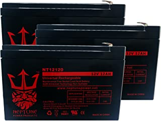 X-Treme X-600 12V 12Ah Replacement Electric Scooter Battery by Neptune - 3 Pack