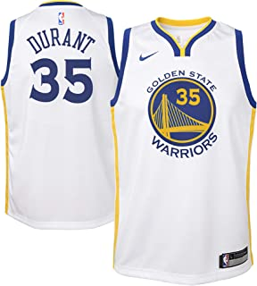 Nike Kevin Durant Golden State Warriors NBA Youth 8-20 White Home Association Edition Swingman Jersey