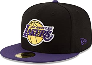 NBA Los Angeles Lakers Mens 2-Tone 59FIFTY Fitted Cap Black 6.875