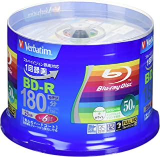 50 Verbatim Blu Ray 25 Gb Bd-r Single Layer 6X Speed Original Spindle Printable Blueray (Renewed)