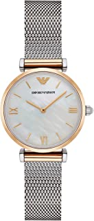 Emporio Armani Womens Quartz Watch, Analog Display and Stainless Steel Strap AR2068