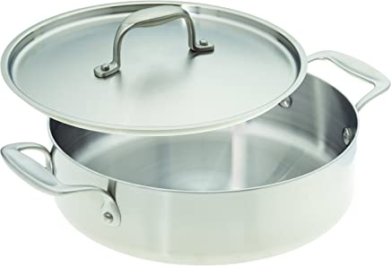 American Kitchen Cookware Stainless Steel Casserole Pan with Lid (25cm)