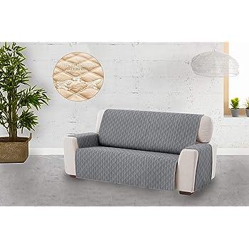 PETCUTE Fundas de Sofa Cubre para Silla Protector de sofá o sillón, Dos o Tres plazas Gris 3 plazas: Amazon.es: Hogar