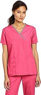 wonderwink Women 's Scrubs Charlie 5bolsillo y-neck Wrap parte superior