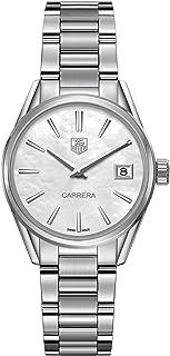 TAG Heuer Women's Carrera 32mm Steel Bracelet & Case Quartz MOP Dial Analog Watch WAR1311.BA0778