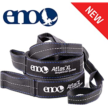 "ENO, Eagles Nest Outfitters Atlas XL Hammock Straps Suspension System with Storage Bag, 400 LB Capacity, 13'6"" x 1.5/.75"""