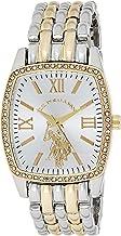 U.S. Polo Assn. Women's Analog-Quartz Watch with Alloy Strap, Two Tone, 18 (Model: USC40245AZ)