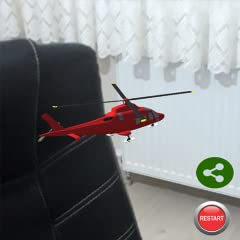 You can play everywhere with AR Helicopter. You dont have to collect it from your room. We developed it our special software library. You can enjoy and play. Please share it with your friends.