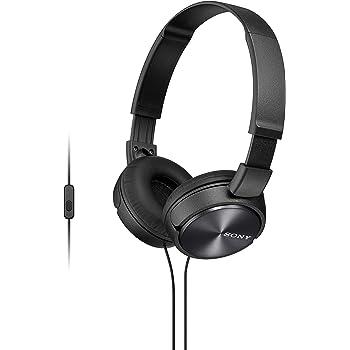 Sony Foldable Headphones with Smartphone Mic and Control - Metallic Black