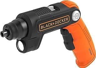 Black+Decker BDCSFL20C-QW Pivot accuschroevendraaier (3,6 V, 1,5 Ah Li-Ion, 3-posities handgreep, voor beperkte ruimte, ge...