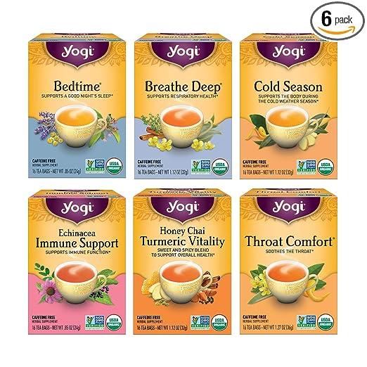 Yogi Tea - Get Well Variety Pack Sampler (6 Pack) - Herbal Teas for Cold and Flu Symptom Support