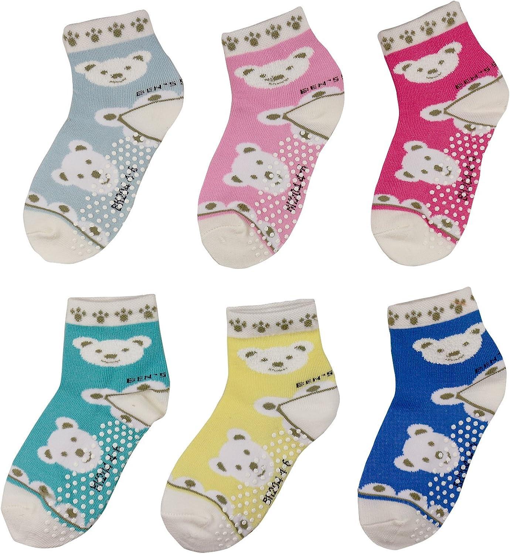 Aminson Anti Slip Non Skid/Ankle Socks With Grips for Baby Toddler Kids Boys Girls