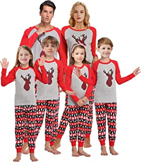 Girls Pajamas for Christmas Children Heart Clothes...
