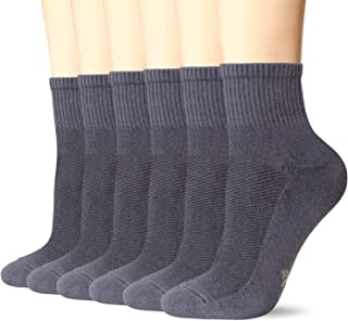 6 Pack Womens and Mens Smell Control Rayon from Bamboo Ankle Socks Cushioned Sole Quarter Casual Socks