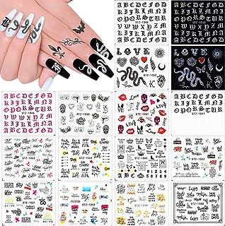 Kalolary 16 Blatt Nagelsticker Nagelaufkleber Selbstklebende