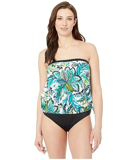 8408523df300f Maxine of Hollywood Swimwear Nola Bandeau Blouson Tankini Top at ...