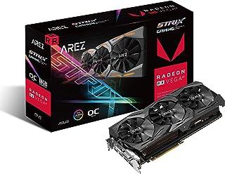 ASUS Arez Strix Radeon Rx Vega64 8GB OC Edition VR Ready 5K HD Gaming DP HDMI DVI AMD Gaming Graphics Card Graphic Cards A...