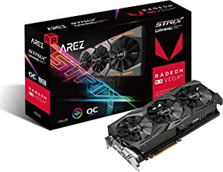 ASUS Arez Strix Radeon Rx Vega64 8GB OC Edition VR Ready 5K HD Gaming DP HDMI DVI AMD Gaming Graphics Card Graphic Cards AREZ-STRIX-RXVEGA64-O8G-GAMING