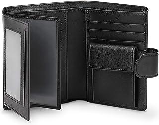 wilbest Portafoglio Uomo Pelle Vera Rfid Blocking Piccolo Sottile con Tasca Portamonete & Scomparti Banconote & 13 Porta C...