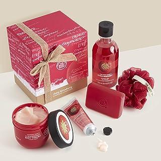 The Body Shop Juicy Strawberry Pampering Essentials Body Yogurt Soap hand cream shower gel Gift SET