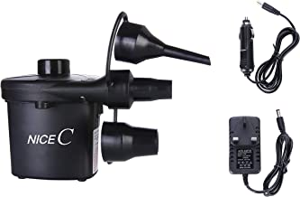 Nice C Air Pump for Inflatables Electric Portable 110V AC/12V DC for Pool, air Mattress, Bed, Toy