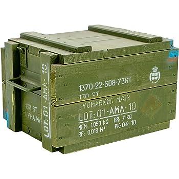 Militar Caja 125d Caja para guardar CA 81x 51x 31cm Militar Caja Munitions Caja de madera caja de madera cajón-estantería manzana caja Shabby Vintage: Amazon.es: Jardín